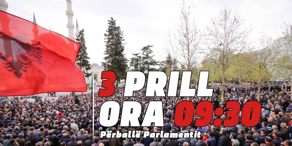 Nesër më 3 prill, ora 09:30 para Parlamentit