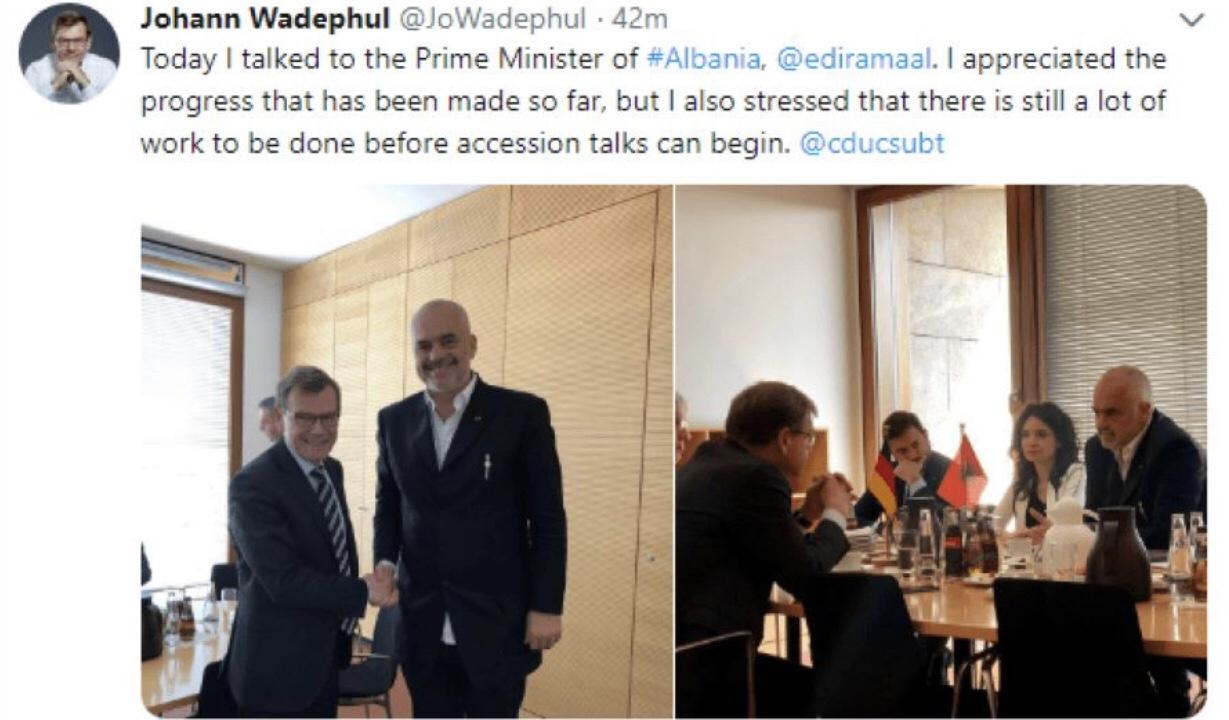 Johann Wadephul Zyrtari i lartë i CDU: Përgënjeshtron Ramën/ Nuk jeni gati, shumë larg hapjes