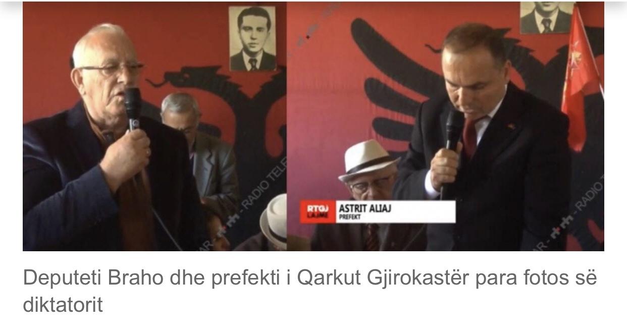 Prefekti i Gjirokastrës në kongresin që themeloi shtetin më terrorist të Europës