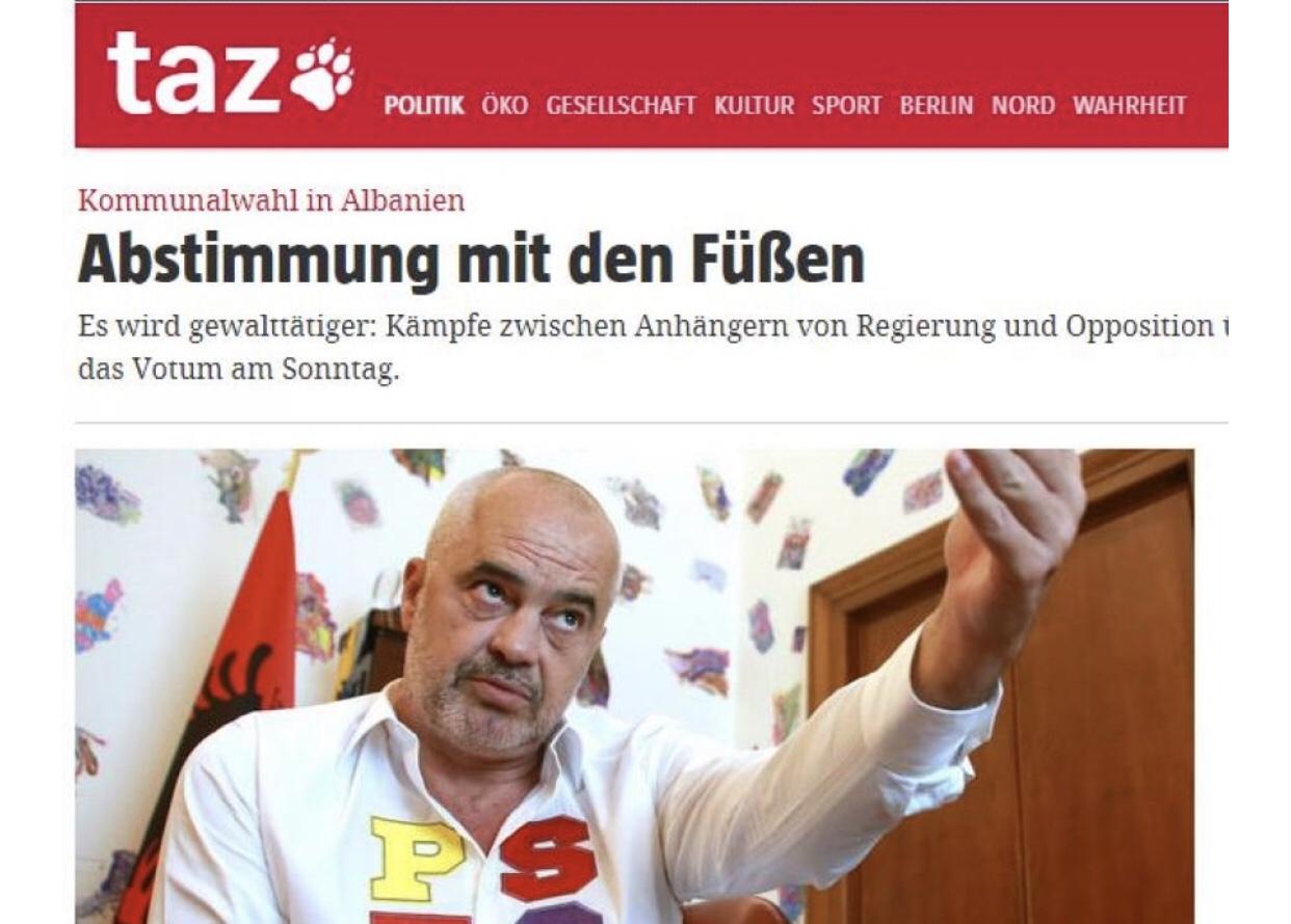 Media Gjermane/ Po votohet me këmbë.