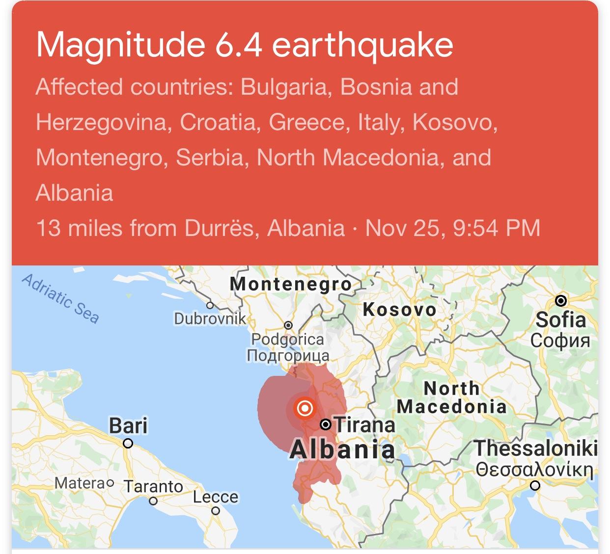 Shqipëria rrezikohet nga një tërmet më i fuqishëm