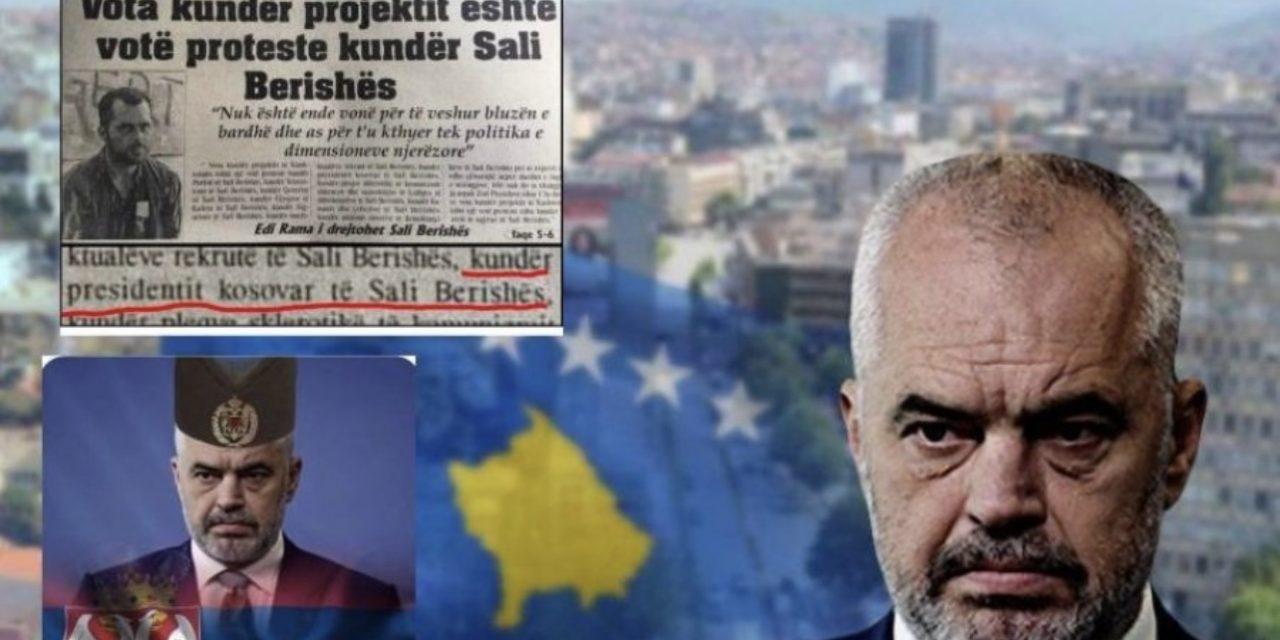 Urrejtja gjenetike e Ramës për Kosovën/ Shihni si e sulmonte Berishën para 27 vitesh për origjinën e tij